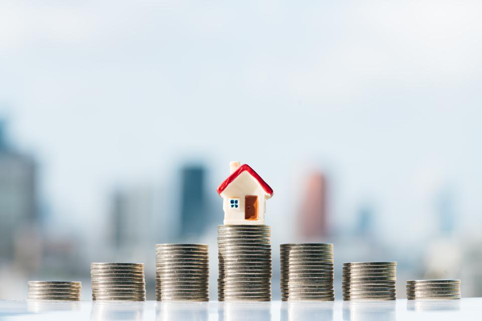 Concept for property ladder, mortgage and real estate investment.