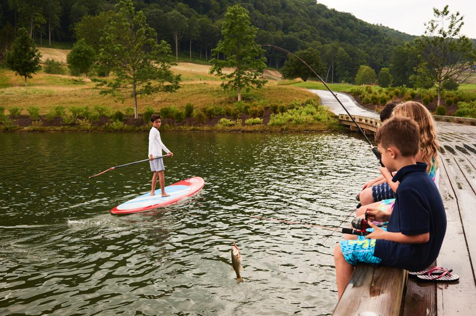 Silo Ridge Field Club, Outdoor Pursuits program, paddleboarding, fishing, New York