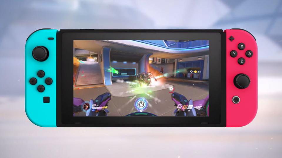 A screenshot of Overwatch on the Nintendo Switch