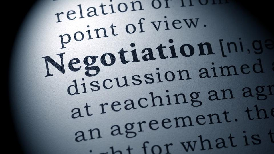 definition of negotiation