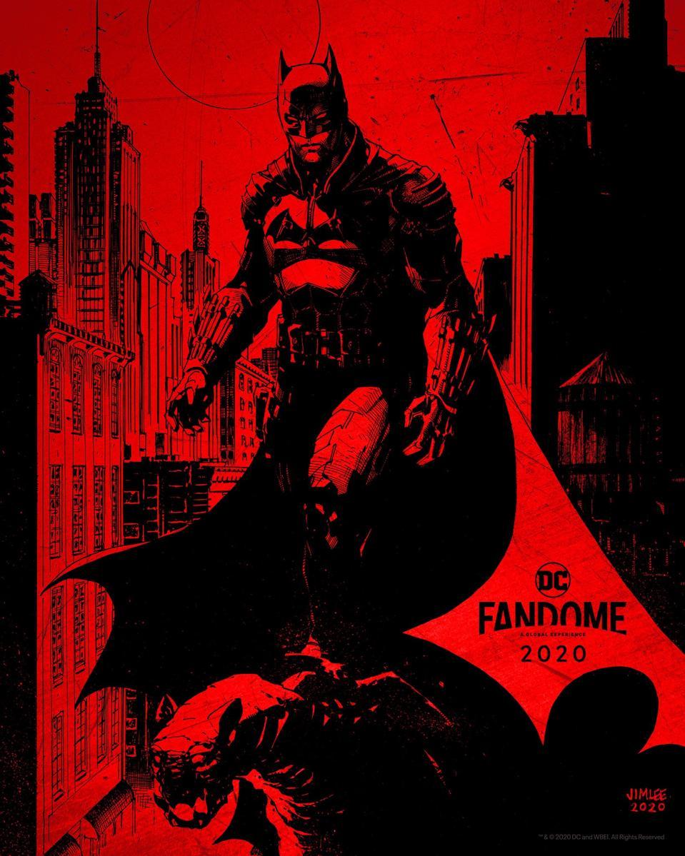 Official Batman poster for DC FanDome.