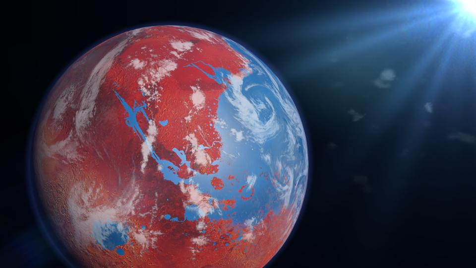 Did rainfall and snowmelt fill rivers and lakes on Mars?