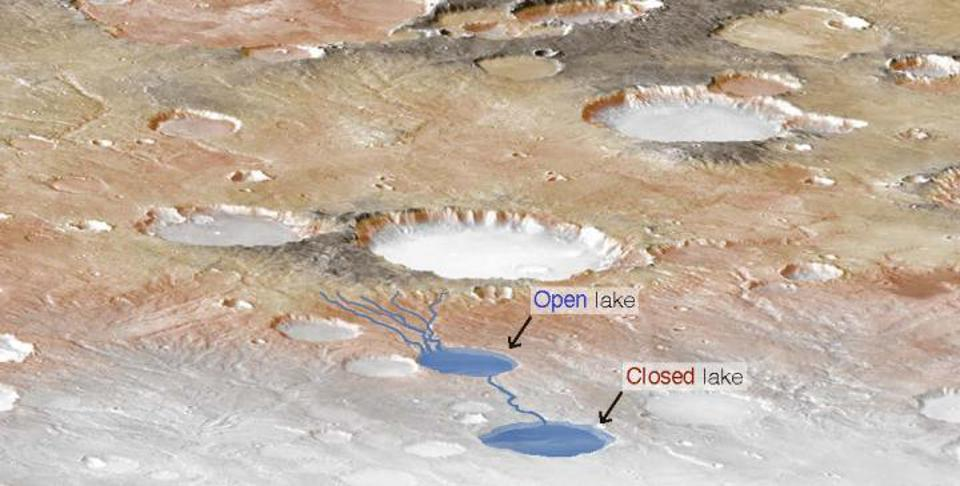 New research from The University of Texas at Austin has used dry Martian lake beds to determine how much precipitation was present on the planet billions of years ago.