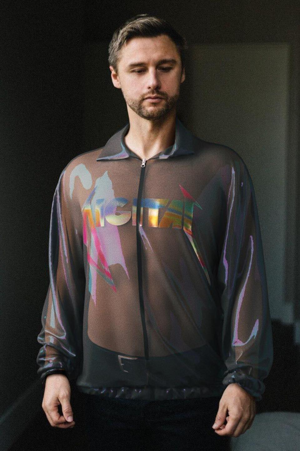man wears Ophelia digital jacket
