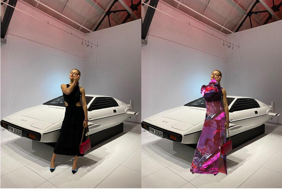 Daria Shapovalova in dress x by nina doll