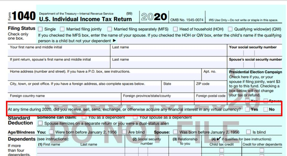 2020 Draft Form 1040
