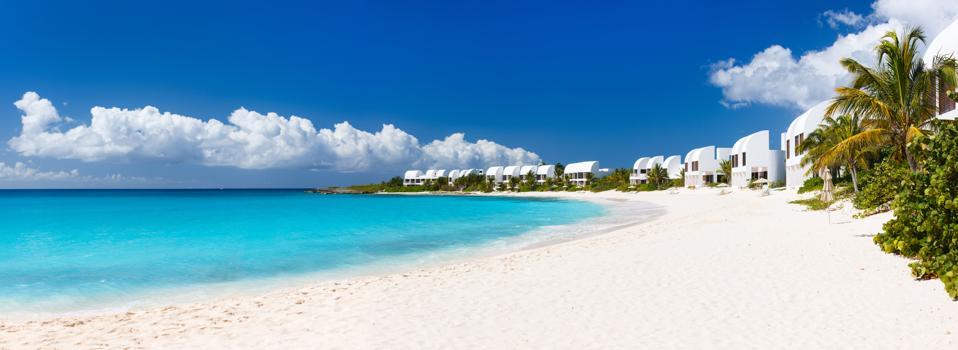 Panorama of a beautiful Caribbean beach