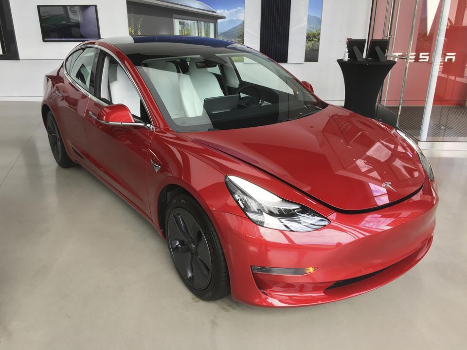 Testa car sits in dealership in NYC - 8/14/20