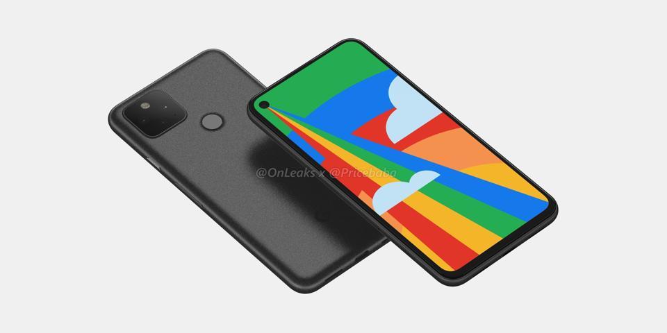 The fingerprint sensor on the back of the Google Pixel 5, allegedly.