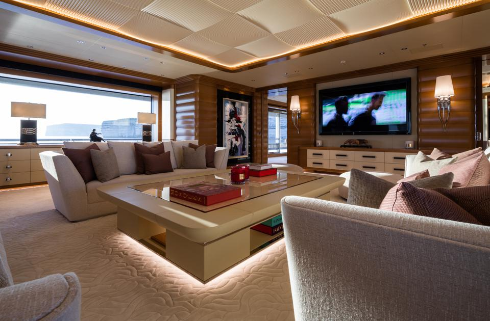 The main deck of the 351-foot-long LANA.