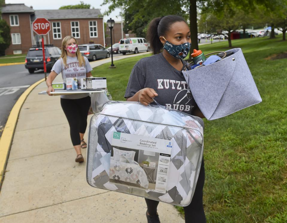 Students At Kutztown University Move Back To Campus With Precautions Against Spread Of COVID-19 / Coronavirus