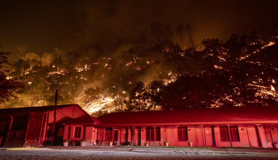 LNU Lightning Complex wildfire in Winters