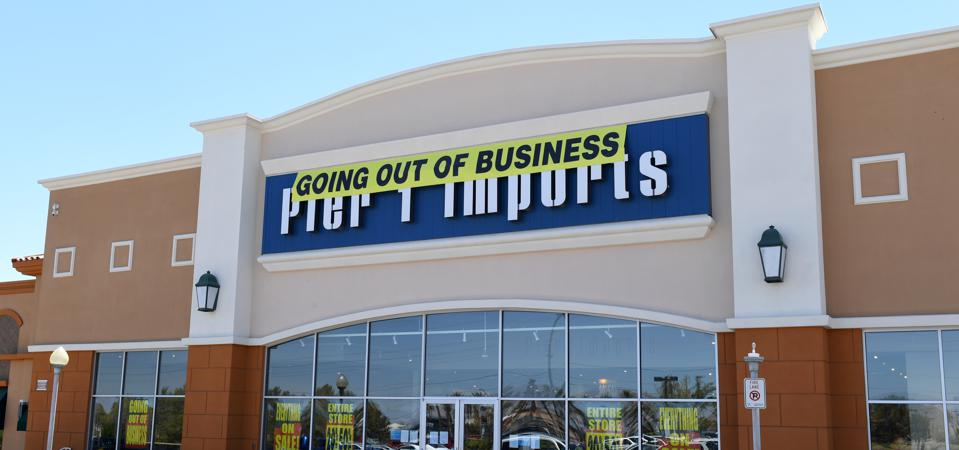 A ″Going Out of Business″ sign hangs outside a Pier 1 Imports store on August 9, 2020 in Las Vegas, Nevada.