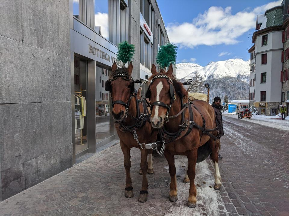 Badrutt's Palace Hotel will help guests arrange a horse-drawn carriage ride