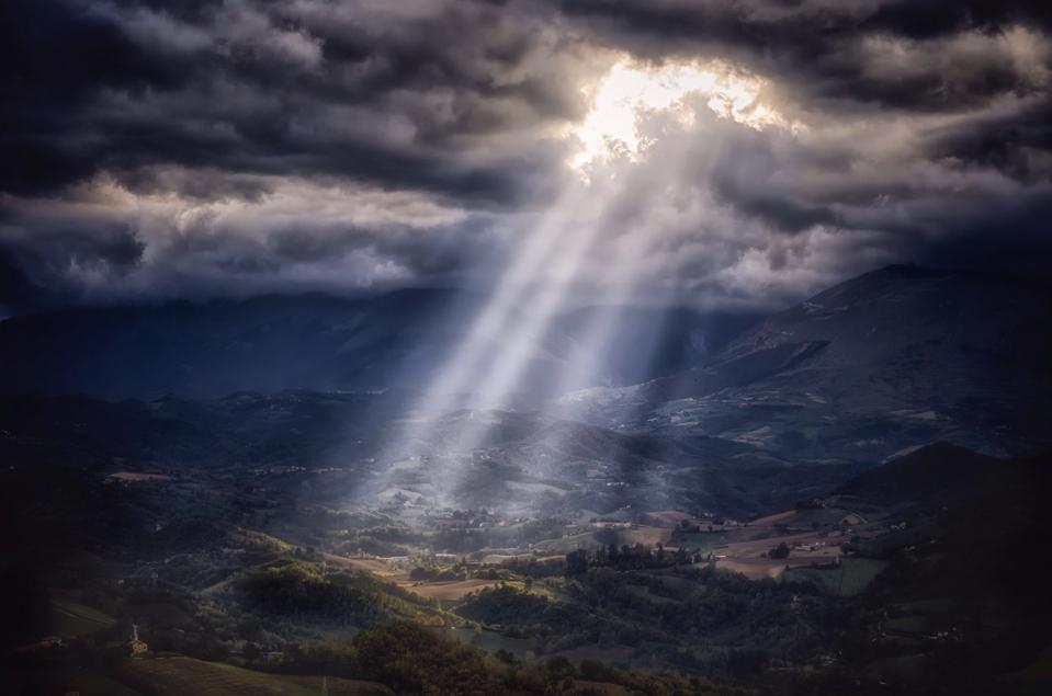 Light Breaking Through the Clouds