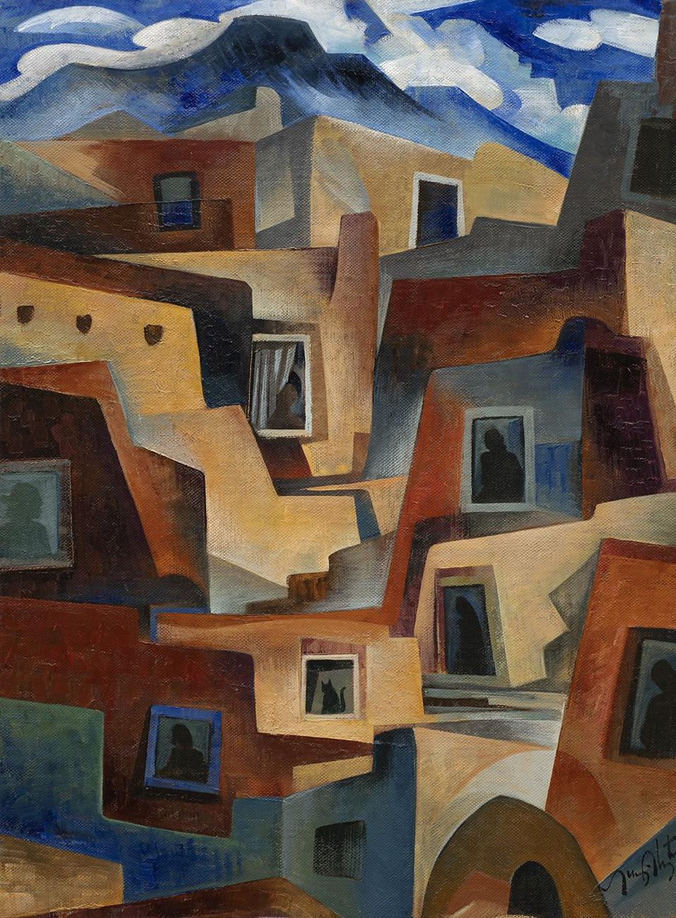 Tony Abeyta, ″March 2020,″ (2020). Oil on canvas 24 x 18 inches. Courtesy of the artist and The Owings Gallery.