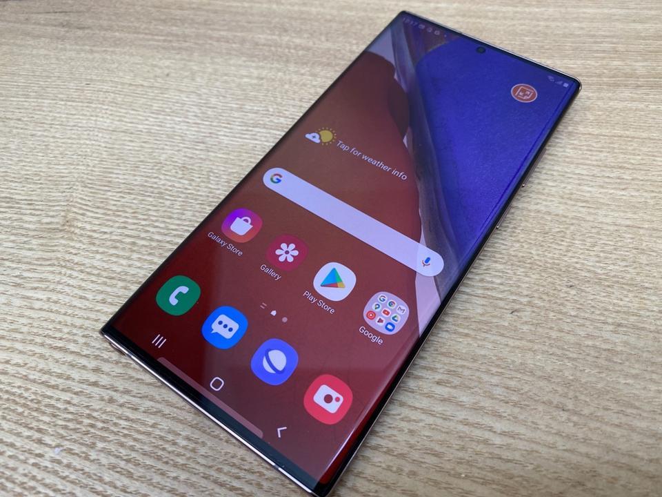 Samsung's slick-looking Galaxy Note 20 Ultra 5G.