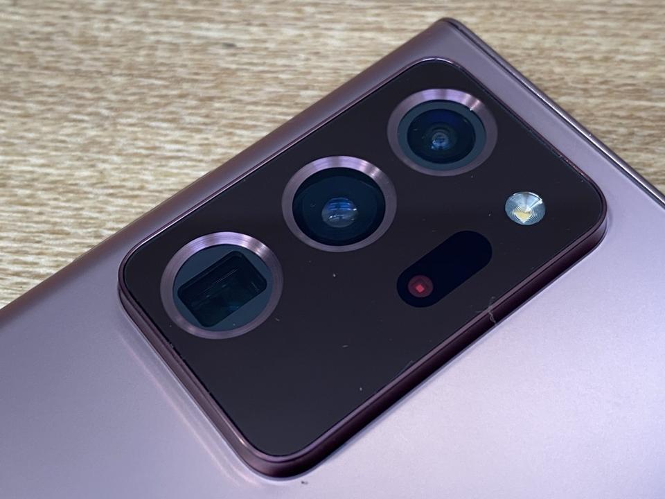 The hefty camera island on the Samsung Galaxy Note 20 Ultra.