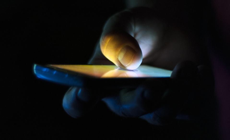 mobile phone in the dark