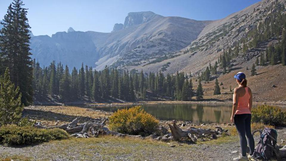 A woman standing alone at Great Basin National Park.