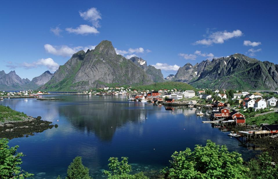 The fishing village Reine in Norway's Lofoten Islands.