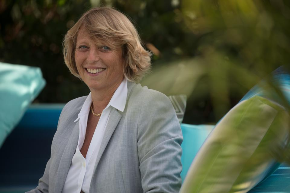 A portrait of Sylvie Ernoult, show director of the Cannes Yachting Festival