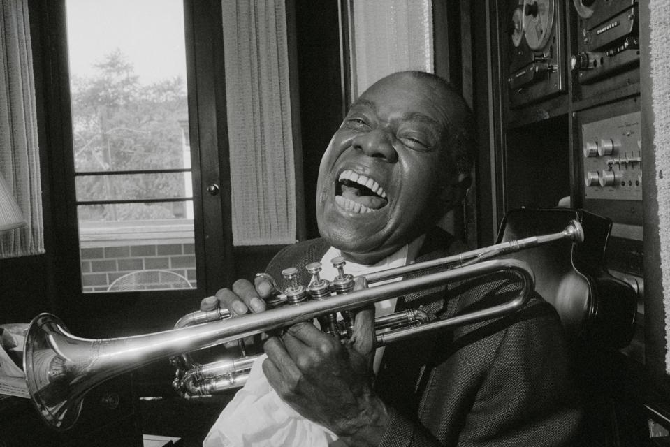 Louis Armstrong with His Trumpet