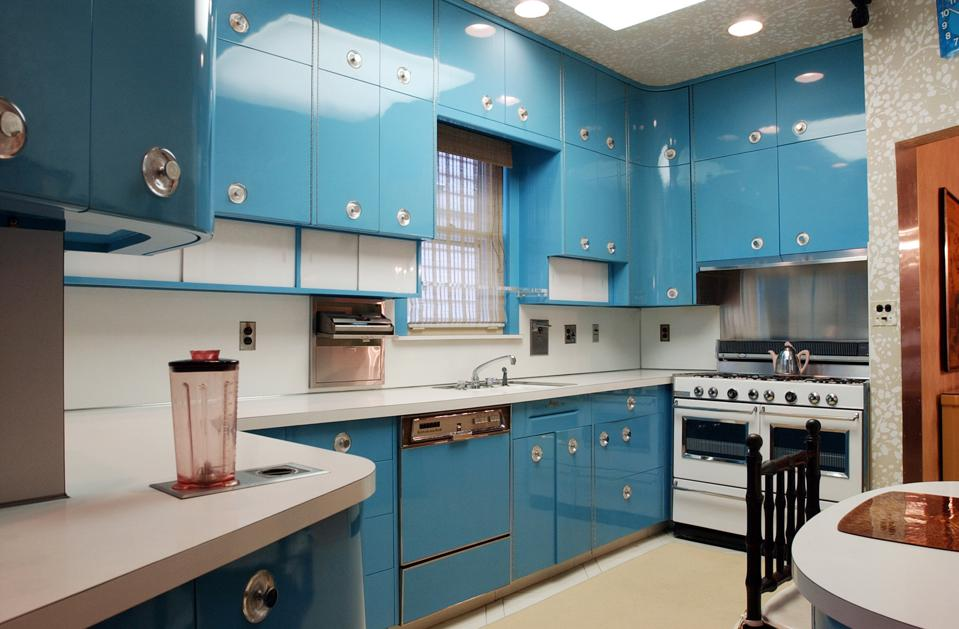 This photo shows the custom-made kitchen