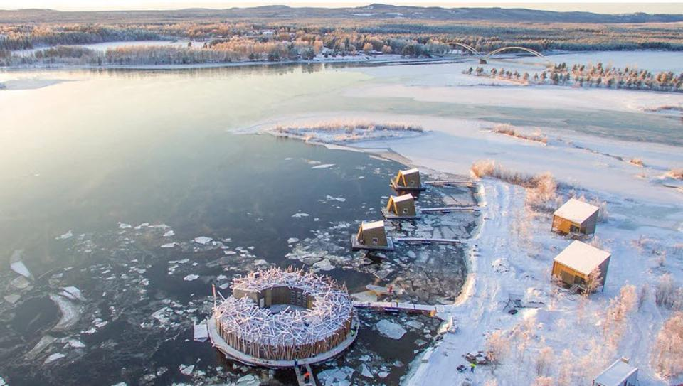 Aerial view of the Arctic Bath Hotel