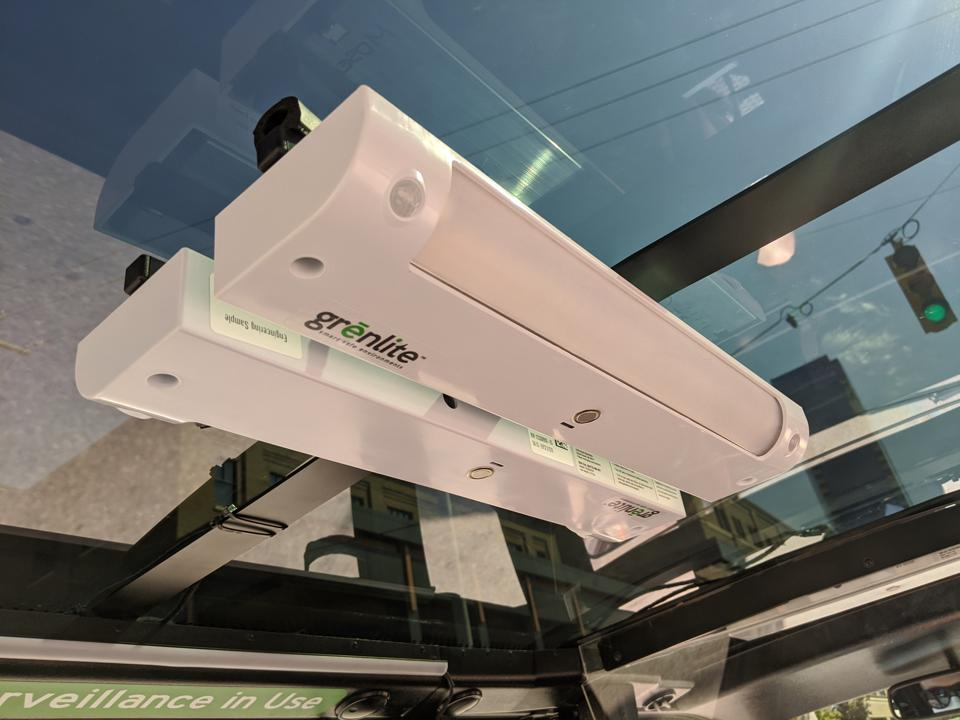 GHSP GrenLite UV-C lamps in one of May Mobility's automated shuttles in Grand Rapids, Mich.