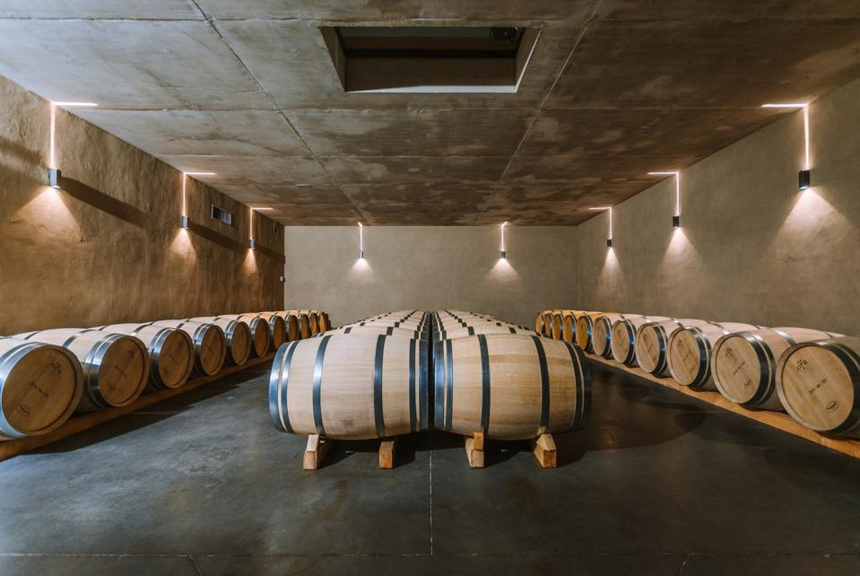 The Clos d'Ora maturing cellar