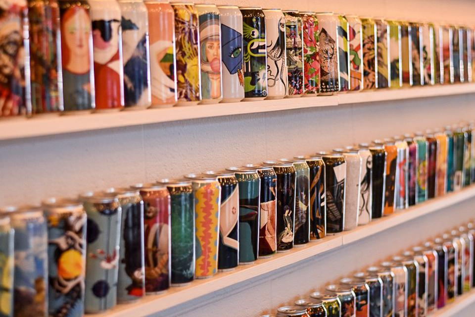 Cans from Collective Arts Brewing Artist Series