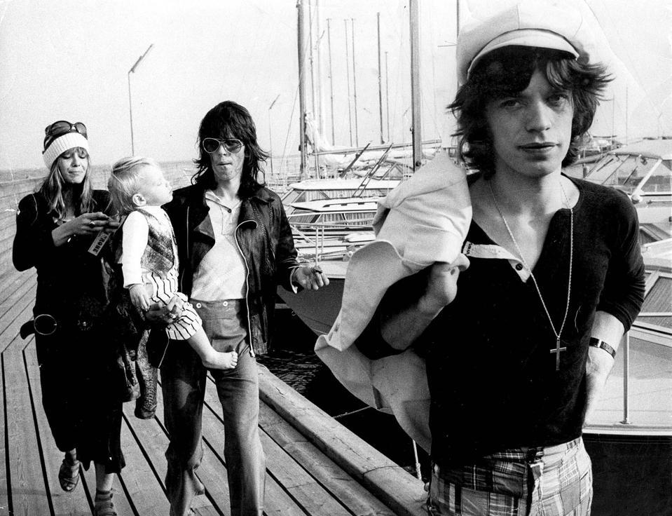 Mick Jagger, Keith Richards And Anita Pallenberg