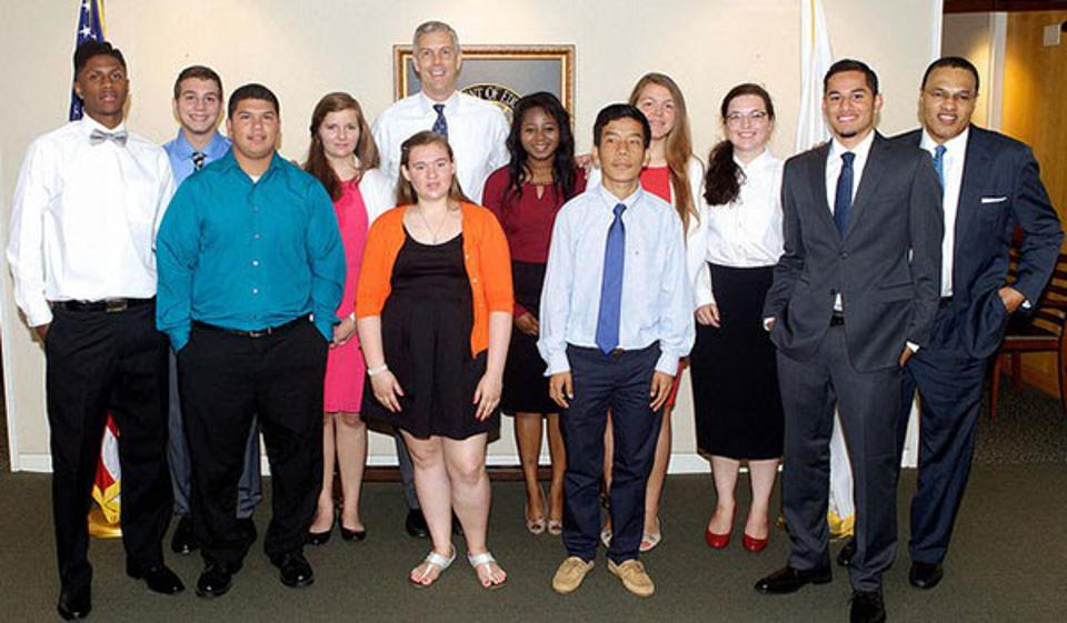 The first Beating the Odds students met with Secretary Duncan.
