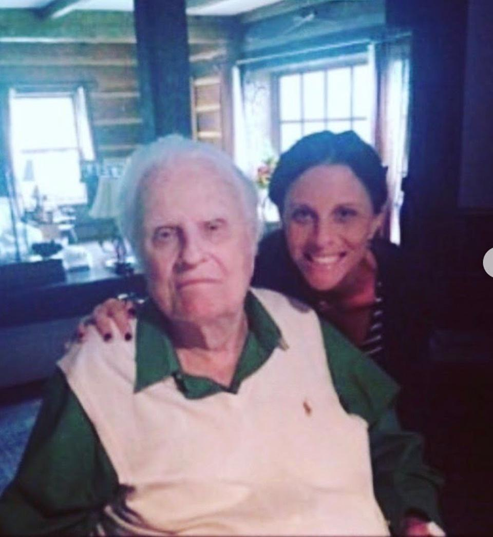 Jerushah Duford with her late grandfather, Billy Graham.