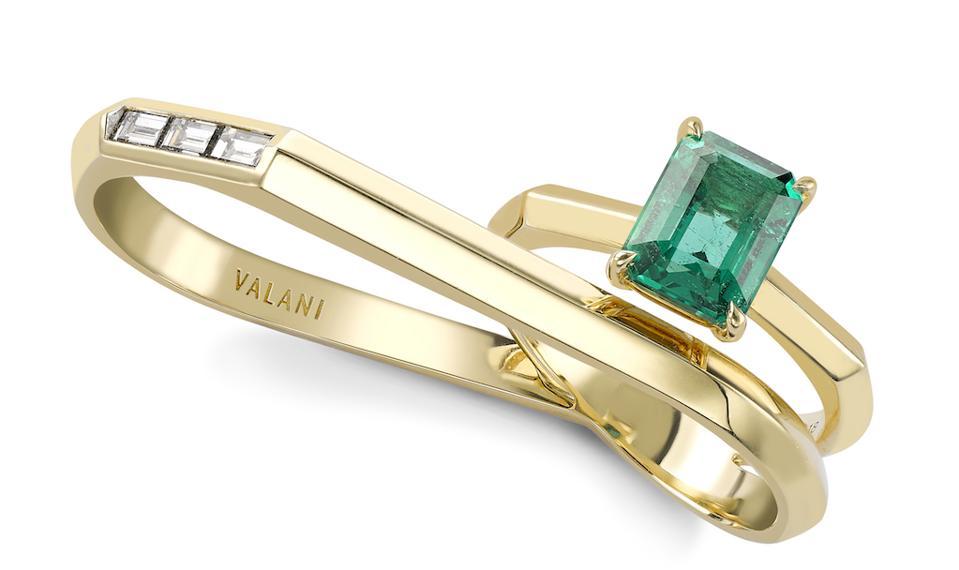 Atlan Emerald Two Finger Ring by Valani Atelier x Gemfields x Walk For Giants