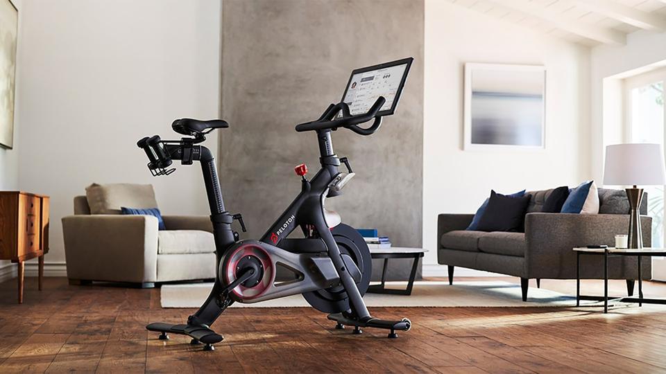 A promo image of the Peloton exercise bike.