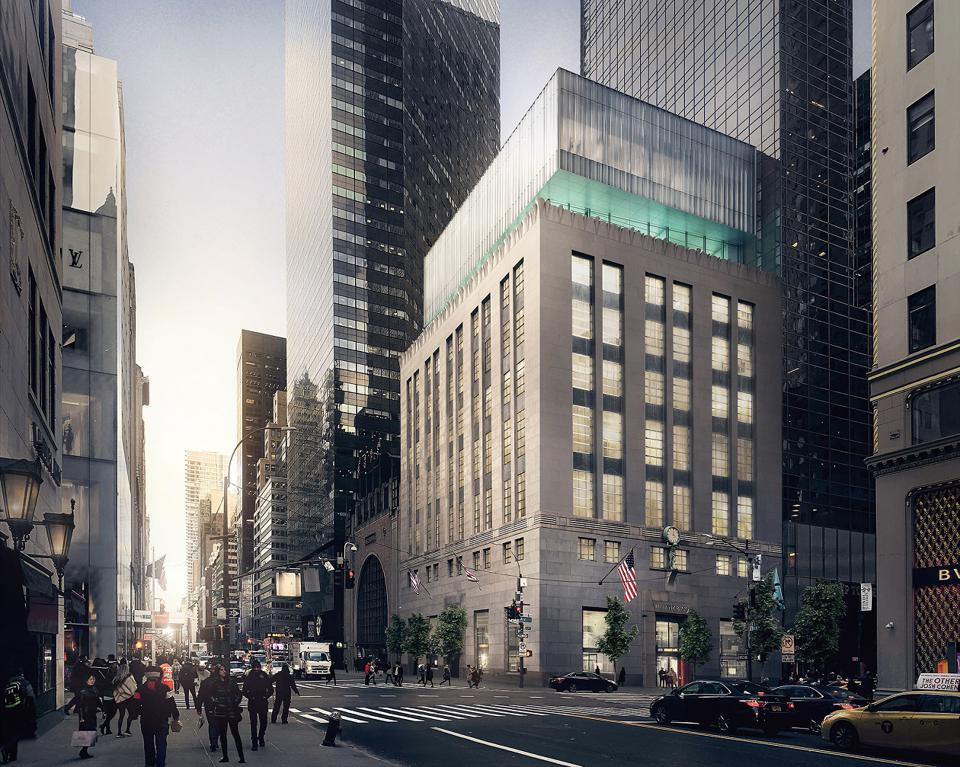 A street view of Tiffany & Co.'s New York flagship building