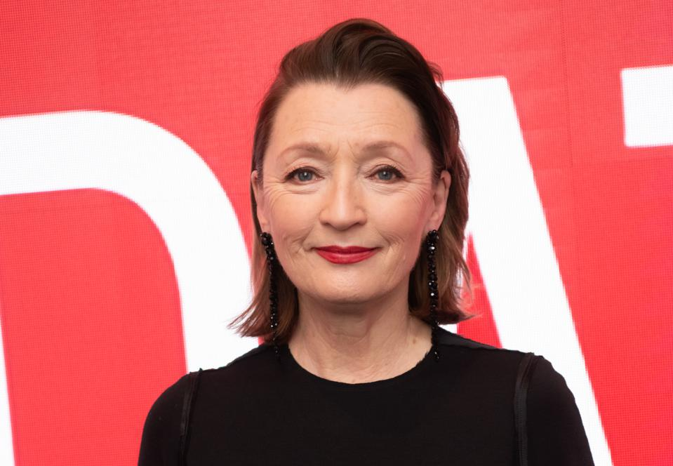 Actress Lesley Manville who will replace Helena Bonham-Carte .as Princess Margaret in The Crown.