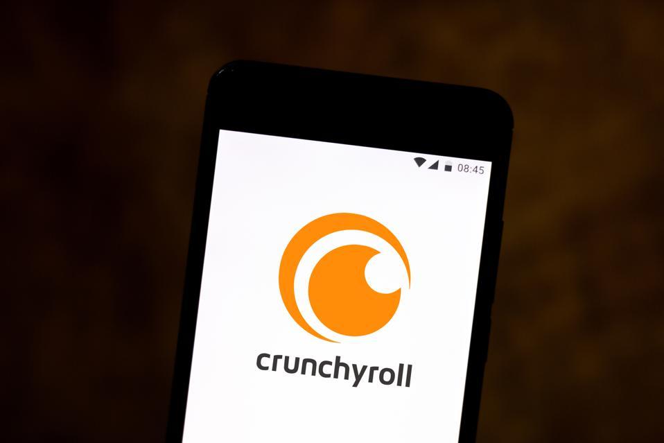 Crunchyroll logo seen displayed...
