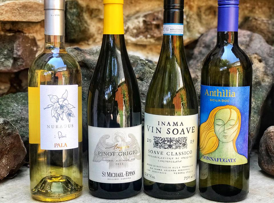 White wines from around the globe.