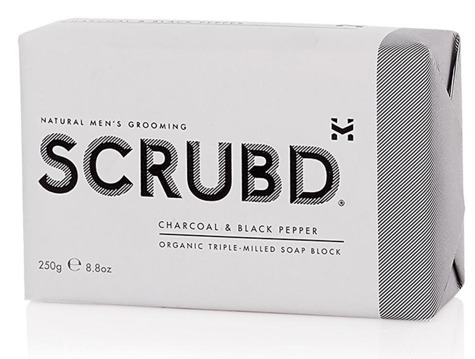 SCRUBD Charcoal & Black Pepper Organic Soap Block