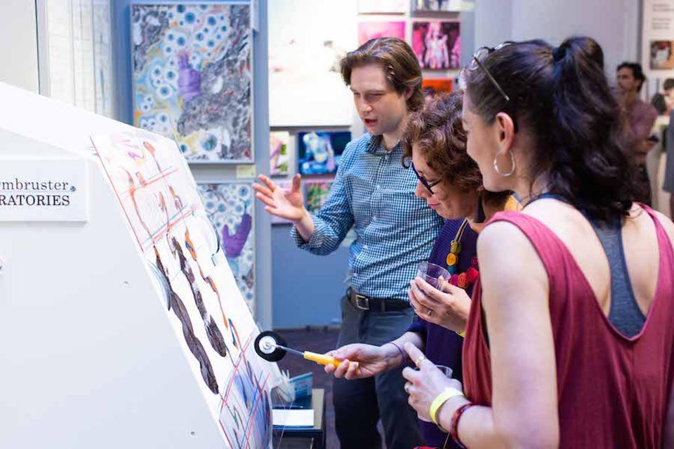 people at an art fair