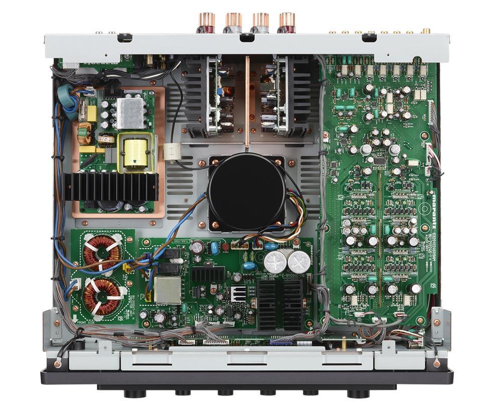 Overhead view of Marantz Model 30 integrated amplifier