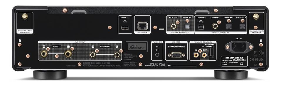 Rear view of Marantz SACD 30n network player