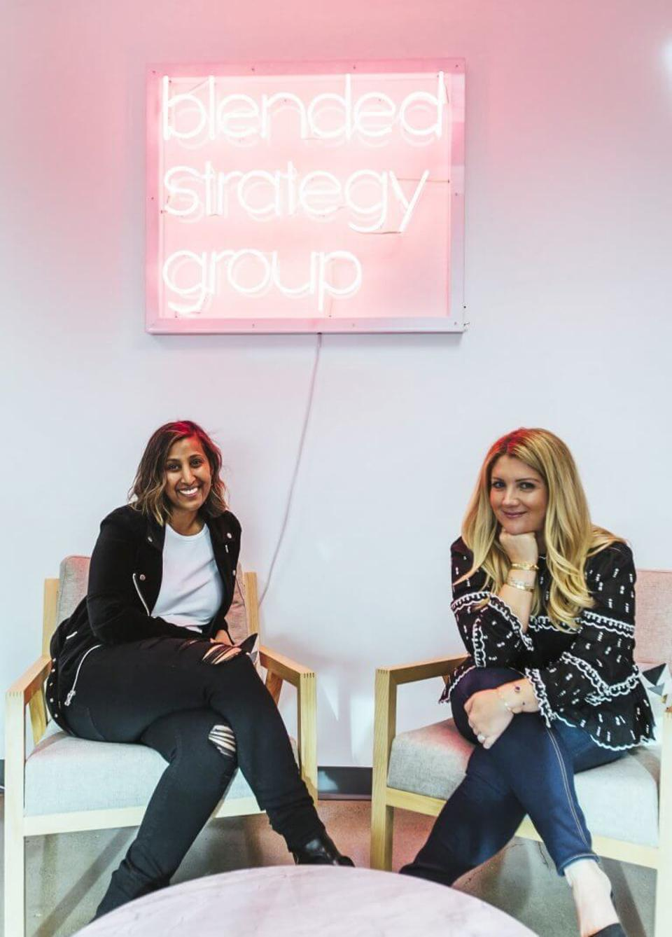 Co-Founders of Blended Strategy Group, Allison and Sherry.