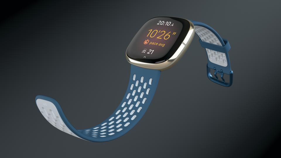 Fitbit Sense looking sporty.