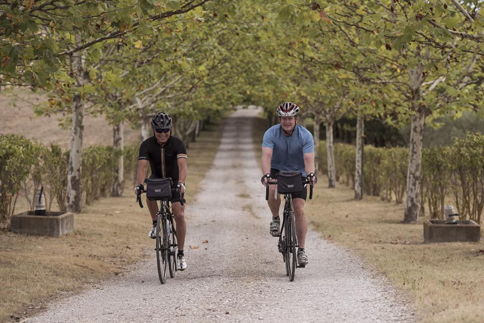 Riding gravel bikes in Tuscany