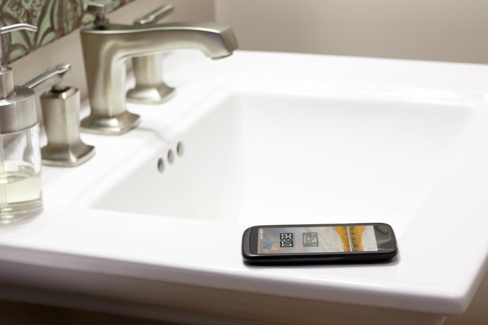 Smart Phone Bathroom Sink