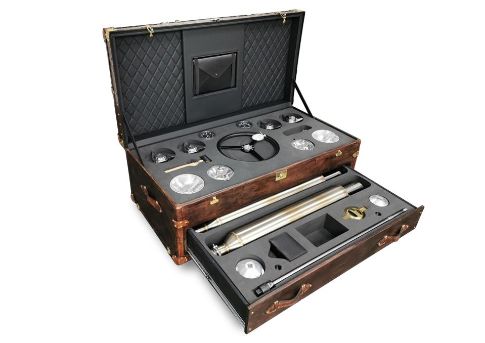 Tailored wooden case created by R-Reforged for parts removed from Continuation classic car